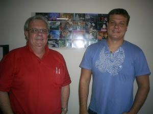 pai e filho juntos no negócio