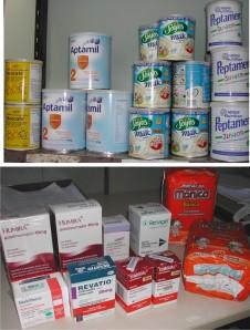 Medicamentos e insumos obtidos por mandados