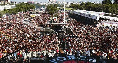 Celebração organizada pela Força Sindical, na capital paulista, em 2007