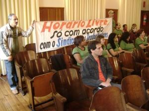 Representantes dos comerciários manifestaram sua opinião na Audiência Pública