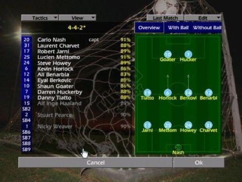 Championship Manager: esquemas táticos avançados