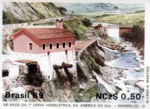 Em 1989, Marmelos estampou um selo celebrando o centenário da usina