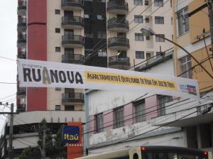 Programa Rua Nova foi iniciado no dia sete de julho