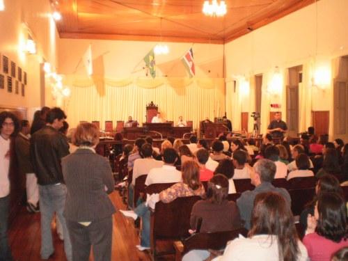 Abertura na Câmara Municipal com Paletra Magna na noite de sexta-feira