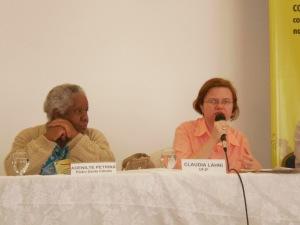 Adenilde Petrina e Cláudia Lahni abordaram a situação das rádios comunitárias na cidade