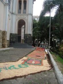Tapetes na Igreja São Sebastião